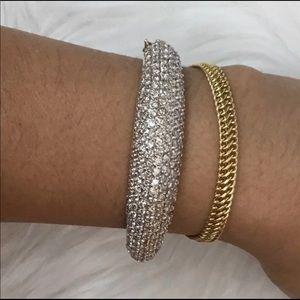 Jewelry - 14 Karat Real Gold 5Carat diamond bangle bracelet